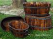 Cedar barrels by Shine Company